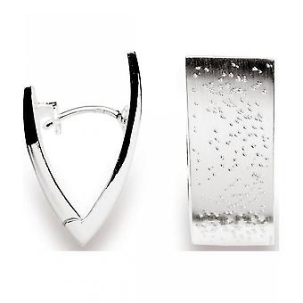 Bastian inverun-zilveren oorbellen Creools Diamond-plated-20580