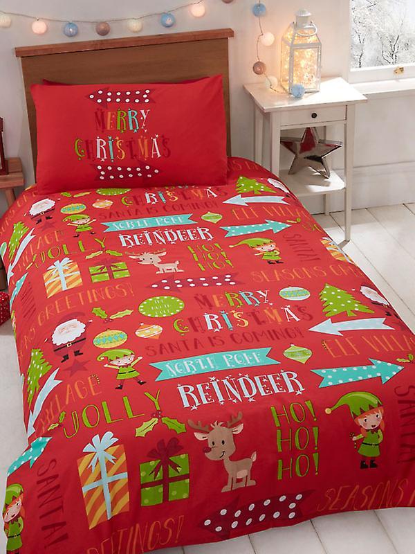 Christmas Fun Junior Duvet Cover and Pillowcase Set