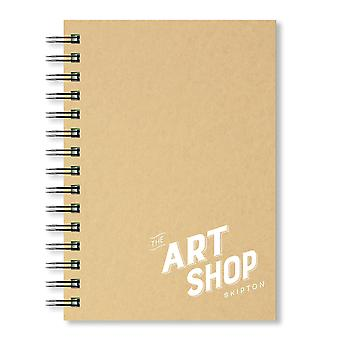 The Art Shop Skipton Kraft Cover Sketchbook A5 (Portrait)