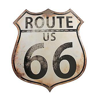 Distressed Finish US Route 66 Metal Wall Sign Highway