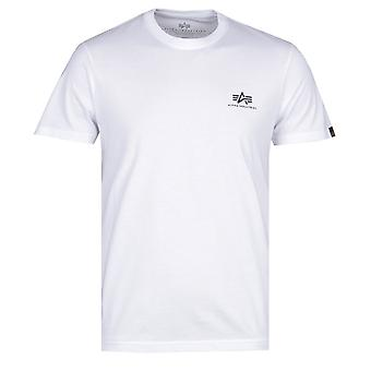 Alpha Industries Basic hvit logo T-skjorte