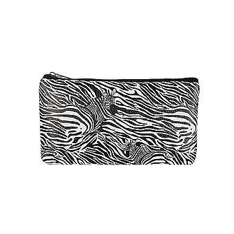 Jewelcity Womens/Ladies Zebra Camo Imprimer Petit sac de maquillage plat