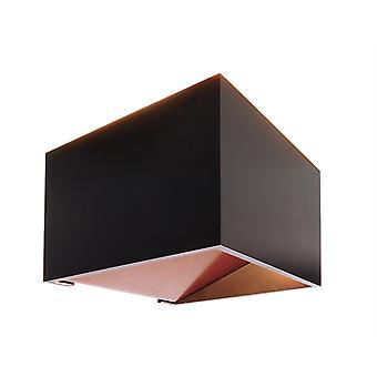 LED wand lamp Dado 5W 3000 K IP20 incl. voeding zwart aluminium
