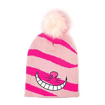Alice In Wonderland Beanie Bobble Hat Cheshire Cat Smile Official Disney Pink