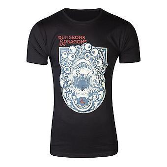 Hasbro Dungeons & Drachen ikonischen Druck T-Shirt männlich groß schwarz (TS717035HSB-L)