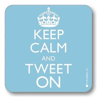 Novelty Keep Calm and Tweet On Novelty Drinks Coaster Gift