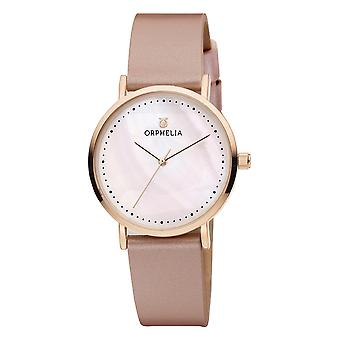 ORPHELIA Women Analogue Watch Fronte di marmo Pink Leather OR11708