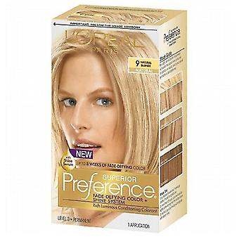 L'oreal paris superior preference hair color, natural blonde 9, 1 kit