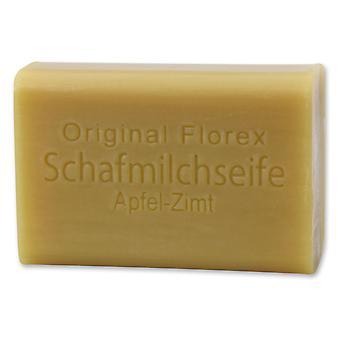 Florex Schafmilchseife - Apfel Zimt- süßer Duft verbreitet weihnachtliche Stimmung 100 g