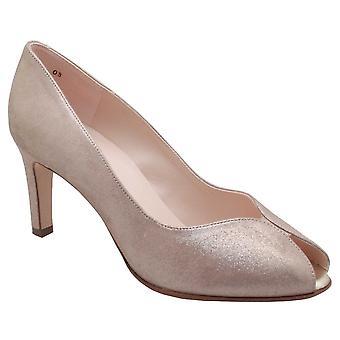 Peter Kaiser Sanna taupe peep toe Court Shoe