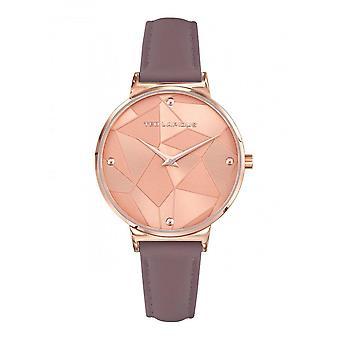 Montre Ted Lapidus A0760URPL - Acier Bracelet Cuir Violet Femme