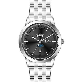 Shows Lee Cooper-LC06551-350 - steel Silver Dial black man