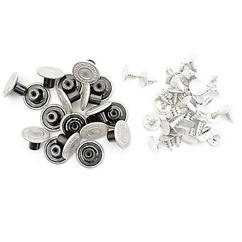 14mm Silver Jeans Buttons with Pins Design 2