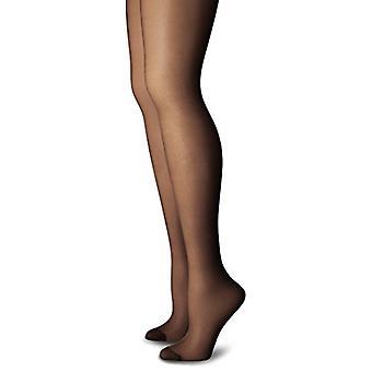 Just My Size Women's Smooth Finish Regular Reinforced Toe Panty Hose Eco, Jet...