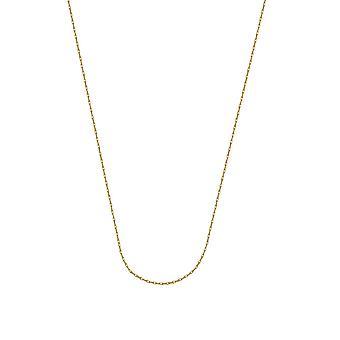 10k gul guld 0,7 mm lätt Rep Kedja Halsband 5.5mm Spring Ring Stängning 18 tums smycken gåvor för kvinnor