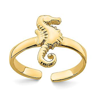 14k Gold Adjustable Seahorse Toe Ring Jewelry Gifts for Women - 1.0 Grams