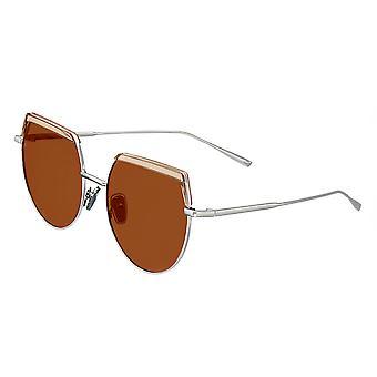 بيرثا كالي النظارات الشمسية المستقطبة - فضة / براون