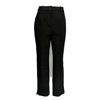 Shape FX Women's Pants Ponte Knit Pull-On Slim Leg Ankle Black A272119