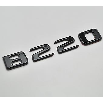 Gloss Black B220 Flat Mercedes Benz Car Model Numbers Letters Badge Emblem For B Class W245 W246 W247 AMG
