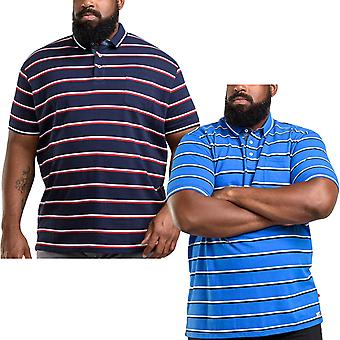 Duke D555 Mens Holmes King Size Big Tall Cotton Striped Short Sleeve Polo Shirt