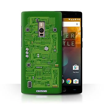 STUFF4 Case/Cover for OnePlus 2/Two/Green/Circuit Board
