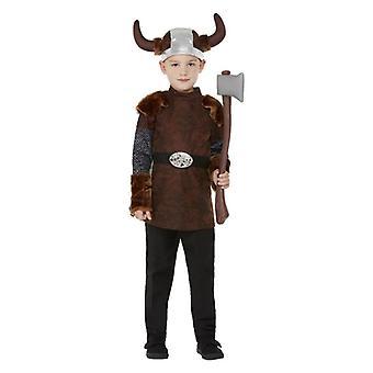 Boys Viking Fancy Dress Costume Nordic Warrior