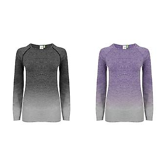 Tombo WomensLadies Seamless Fade Out Long Sleeve Top