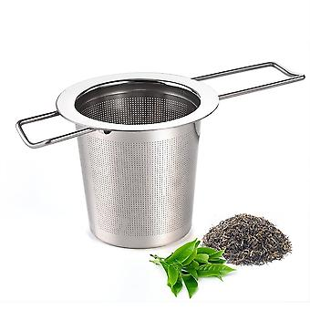 Stainless Steel Tea Filter With Folding Handles - Compact And Practical Solution For All Tea Lovers !