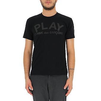 Comme Des Garçons Play P1t1881 Men's Black Cotton T-shirt