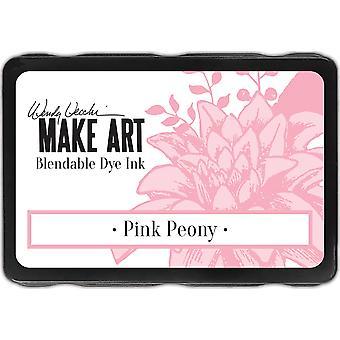 Wendy Vecchi tehdä art väriaine muste tyynyt - vaaleanpunainen pioni