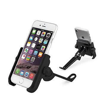 Metal 360 degree rotation car mount rear view mirror phone holder stand for xiaomi mobile phone