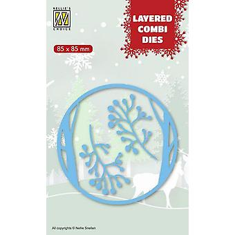 Nellie's Choice Layered Combi Die Christmas deer (Layer A) LCDCD001 85x85mm