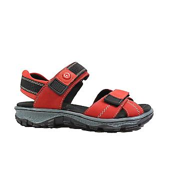 Rieker 68851-33 Red Womens Rip Tape Walking Style Sandals