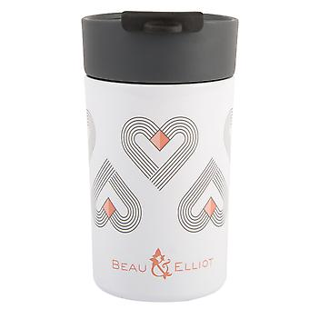 Beau & Elliot Vibe White Insulated Travel Mug, 300ml