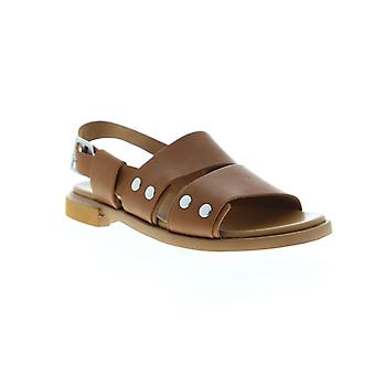 Camper Edy  Womens Brown Leather Strap Slingback Sandals Shoes