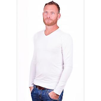 Alan Red t-shirt Model Oslo (Longsleeve) White