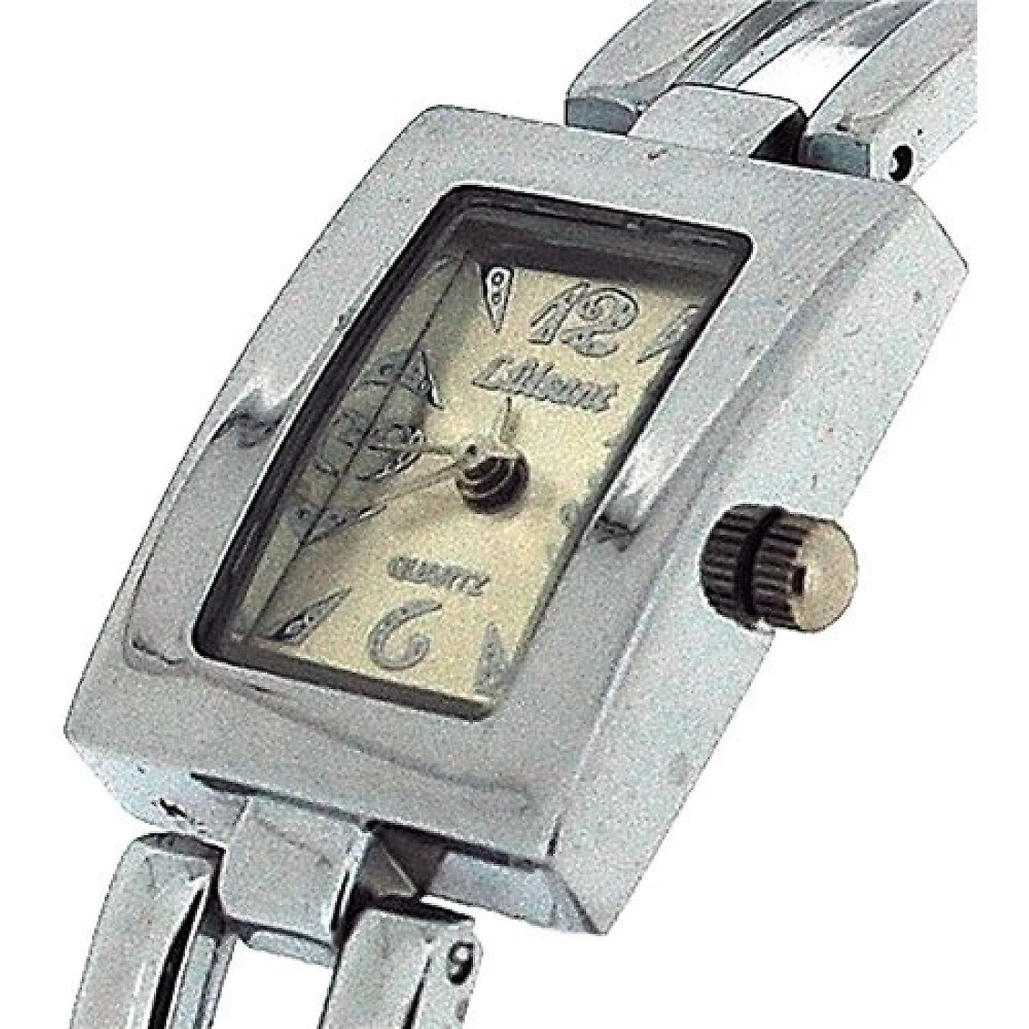 The Olivia Collection Ladies Rectangle Silver Dial Bracelet Strap Watch COS41