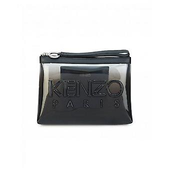 Kenzo Accessories Kombo Clear Plastic Logo Wristlet