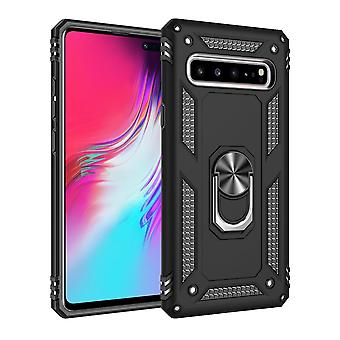 Per Samsung Galaxy S10 5G Case Armour Shockproof Cover 360 Rotation Holder Black