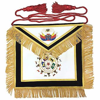 Masonic scottish rite 32nd degree apron hand embroidery master of royal secret