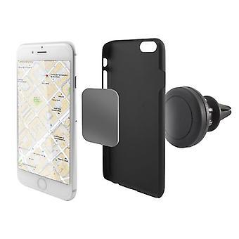 Magnetic Mobile Phone Holder for Car KSIX 360º Black