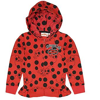 Miraculous ladybug girls sweatjacket hoodie