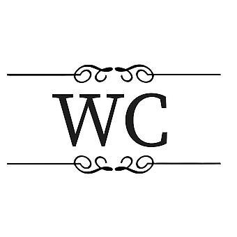 Wall décor | Toilet decoration | WC | Serif Font