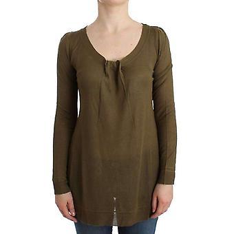 Cavalli Green Fine Knitted Jumper -- SIG1436997