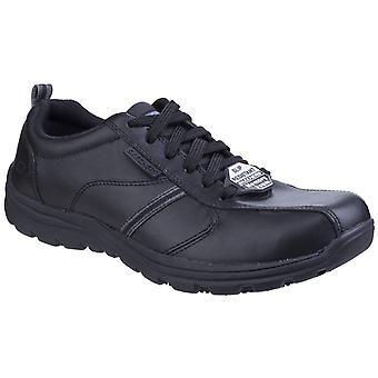 Skechers unisex hobbes frat dantelă până pantof negru 25220