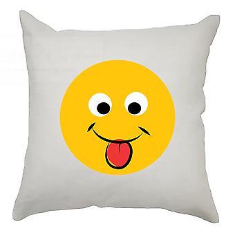 Emoji Cushion Cover 40cm x 40cm Tongue Out 2