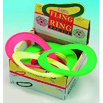 Classic Vinyl Fling A Ring Dog Toy (Pack Of 12)