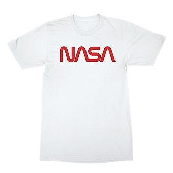 Nasa Classic Typography In Red Men's T-shirt