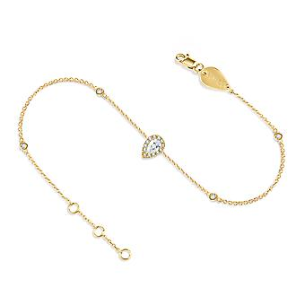 Anklet France 18K Gold and Diamonds - Yellow Gold