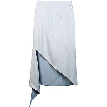 Off-blanc Owcc091s20fab0014000 Women-apos;s Light Blue Linen Jupe